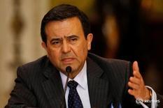 El secretario de Economía de México,  Ildefonso Guajardo, habla en una rueda de prensa en el palacio de Gobierno en Ciudad de México. 24 de junio de 2016. Guajardo dijo el martes que el Tratado de Asociación Transpacífico (TPP) podría ser la base de acuerdos bilaterales si no llega a ser ratificado por países como Estados Unidos. REUTERS/Henry Romero