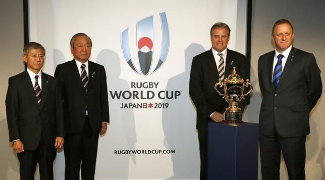 11月24日、ラグビーの国際統括団体であるワールドラグビーは、2019年に日本で開催されるワールドカップ(W杯)の組み合わせ抽選会を来年5月10日に行うことを発表した。2015年10月撮影(2016年 ロイター)