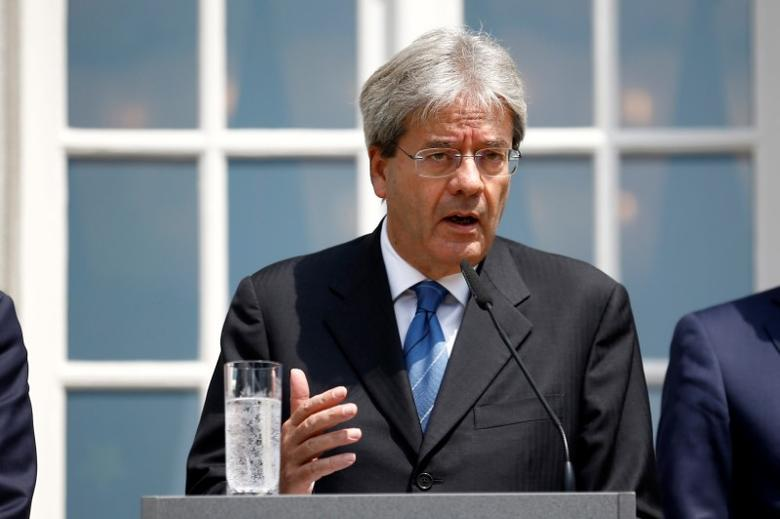 Italian Foreign Minister Paolo Gentiloni attends a press conference after a foreign minister meeting of the EU founding members in Berlin, Germany, June 25, 2016.    REUTERS/Axel Schmidt