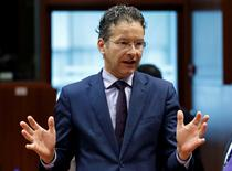 Dutch Finance Minister and Eurogroup President Jeroen Dijsselbloem gestures during a European Union finance ministers meeting in Brussels, Belgium, July 12, 2016. REUTERS/Francois Lenoir
