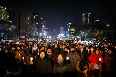 Massive protests against South Korea's president