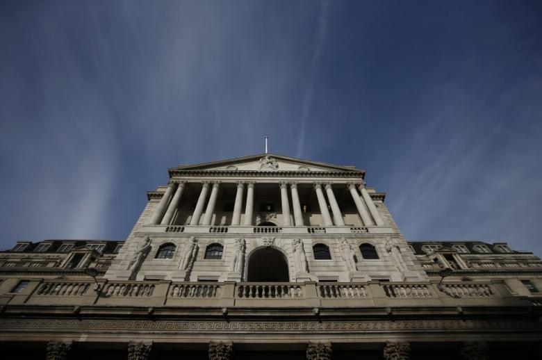 A blue sky is seen above the Bank of England in the City of London, Britain, November 3, 2016. REUTERS/Peter Nicholls