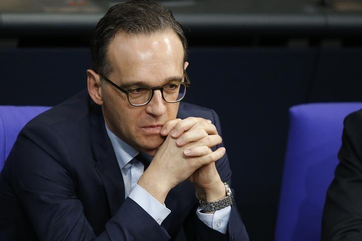 German Justice Minister Heiko Maas attends a meeting at the lower house of parliament Bundestag on 2017 budget in Berlin, Germany, November 23, 2016. REUTERS/Fabrizio Bensch