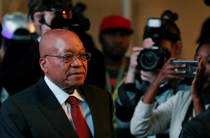 South African President Jacob Zuma arrives for the official announcement of the munincipal election results at the result centre in Pretoria, South Africa August 6, 2016. REUTERS/Siphiwe Sibeko/Files