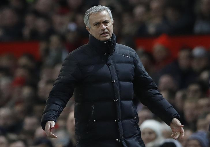 Britain Football Soccer - Manchester United v West Ham United - Premier League - Old Trafford - 27/11/16 Manchester United manager Jose Mourinho Action Images via Reuters / Carl Recine Livepic