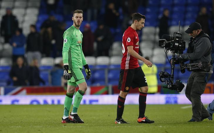 Football Soccer Britain - Everton v Manchester United - Premier League - Goodison Park - 4/12/16 Manchester United's David De Gea and Matteo Darmian look dejected after the game   Reuters / Andrew Yates Livepic