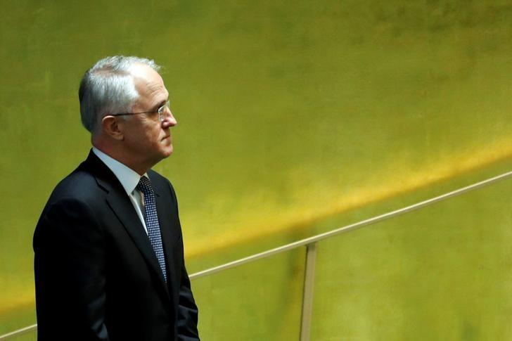 Australia's Prime Minister Malcolm Turnbull enters the General Assembly Hall to speak during the 71st United Nations General Assembly in Manhattan, New York, U.S. September 21, 2016.   REUTERS/Eduardo Munoz
