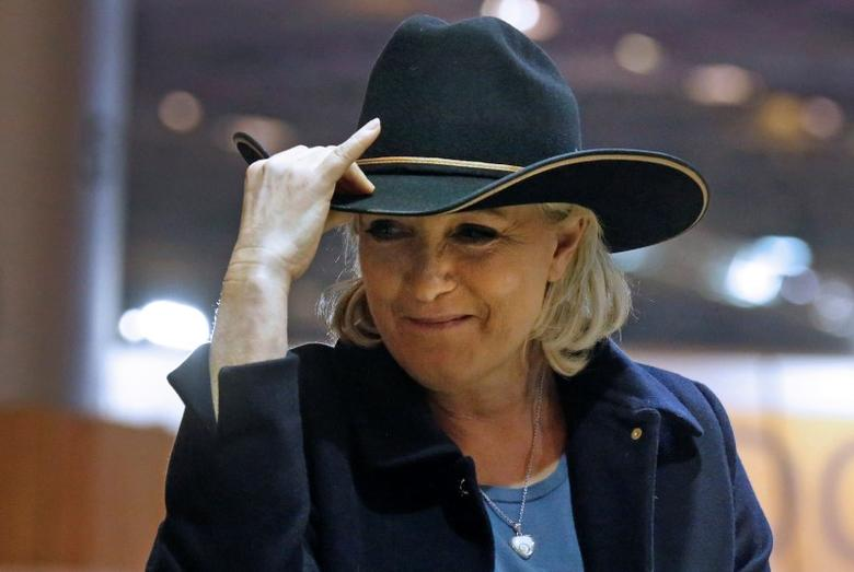 Marine Le Pen, French National Front (FN) political party leader, visits the Horse show in Villepinte, France, December 2, 2016.  REUTERS/Jacky Naegelen