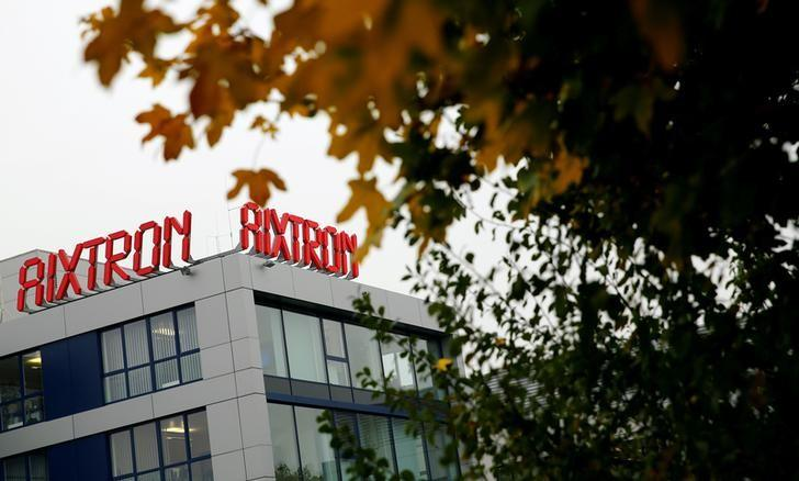 The headquarters of German chip equipment maker Aixtron SE is pictured in Herzogenrath, Germany, October 25, 2016.     REUTERS/Wolfgang Rattay/File Photo