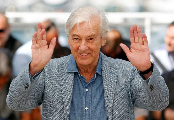 Director Paul Verhoeven poses during a photocall for the film ''Elle'' in competition at the 69th Cannes Film Festival in Cannes, France, May 21, 2016.  REUTERS/Yves Herman/Files