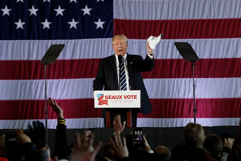 U.S. President-elect Donald Trump speaks during a ''Thank You USA'' tour rally in Baton Rouge, Louisiana, U.S., December 9, 2016.  REUTERS/Mike Segar