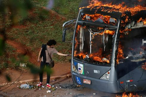 Fiery protests in Brazil