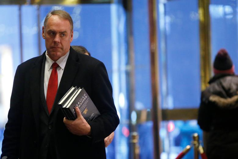 U.S. Representative Ryan Zinke (R-MT) arrives for a meeting with U.S. President-elect Donald Trump at Trump Tower in Manhattan, New York City, U.S., December 12, 2016.  REUTERS/Brendan McDermid