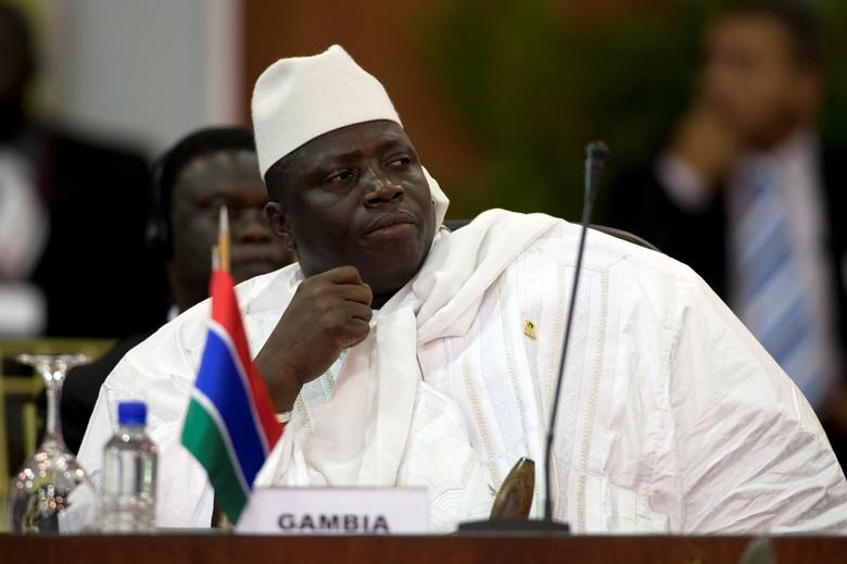 Gambia's President Yahya Jammeh attends the plenary session of the Africa-South America Summit on Margarita Island September 27, 2009. REUTERS/Carlos Garcia Rawlins/Files