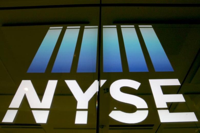 The New York Stock Exchange logo is displayed on a screen at the New York Stock Exchange in New York, United States, July 2, 2015. REUTERS/Brendan McDermid