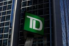 A Toronto-Dominion Bank (TD) sign is seen outside of a branch in Ottawa, Ontario, Canada, May 26, 2016. REUTERS/Chris Wattie - RTX2EC8O