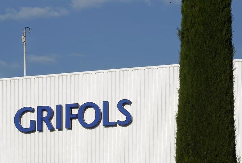 The logo of Grifols is seen on its laboratory building in Parets del Valles near Barcelona June 8, 2010. REUTERS/Gustau Nacarino