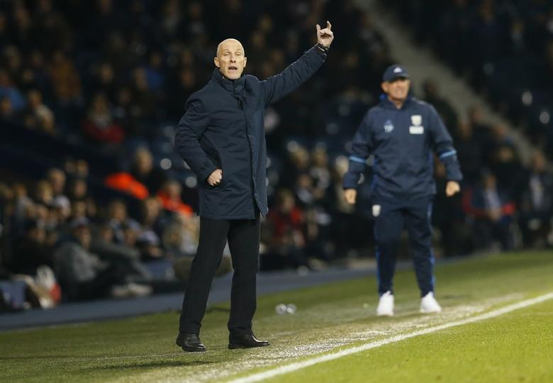 Swansea manager Bob Bradley during the match. West Bromwich Albion v Swansea City - Premier League - The Hawthorns - 14/12/16.  Action Images via Reuters / Andrew Boyers Livepic