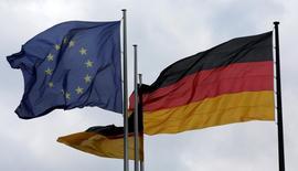 L'Allemagne a une nouvelle fois empêché le déblocage du projet d'union bancaire censé permettre à la zone euro d'améliorer la stabilité de son système financier faisant amender un communiqué des dirigeants européens. /Photo d'archives/REUTERS/Fabrizio Bensch