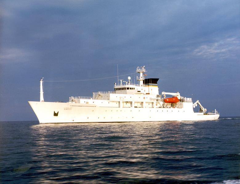 The USNS Bowditch, an oceanographic survey ship, is seen in this undated U.S. Navy handout photo.  U.S. Navy via REUTERS