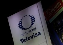 El logo de la cadena de televisión Televisa se ve fuera de su sede central en Ciudad de México, México, el 14 de diciembre de 2016.Una firma no identificada que fue reseñada en una investigación de corrupción en la FIFA, el organismo rector del fútbol mundial, coincide con la descripción de un socio cercano al gigante de medios mexicano Grupo Televisa, según una revisión de Reuters a documentos de los gobiernos de Estados Unidos y Suiza. REUTERS/Henry Romero