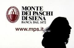 Un investisseur important du plan de renflouement privé de Banca Monte dei Paschi di Siena n'est pas satisfait de l'une des conditions primordiales de l'opération, un désaccord susceptible de la faire échouer si la question n'est pas résolue. /Photo d'archives/REUTERS/Stefano Rellandini