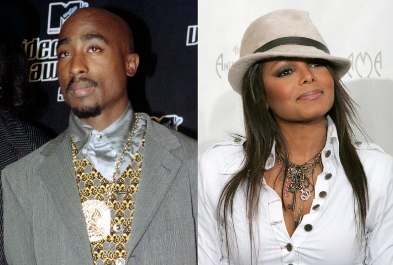 Tupac Shakur and Janet Jackson in a combination photo.   REUTERS/Files