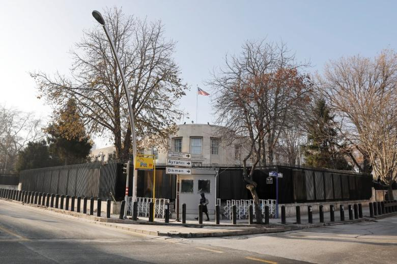 General view of the U.S. Embassy in Ankara, Turkey, December 20, 2016. REUTERS/Umit Bektas