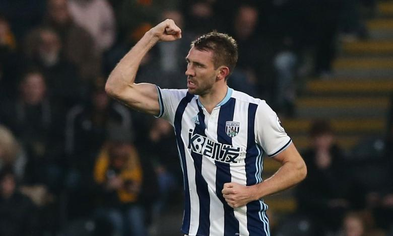 Football Soccer Britain - Hull City v West Bromwich Albion - Premier League - The Kingston Communications Stadium - 26/11/16 West Bromwich Albion's Gareth McAuley celebrates scoring their first goal  Reuters / Scott Heppell Livepic