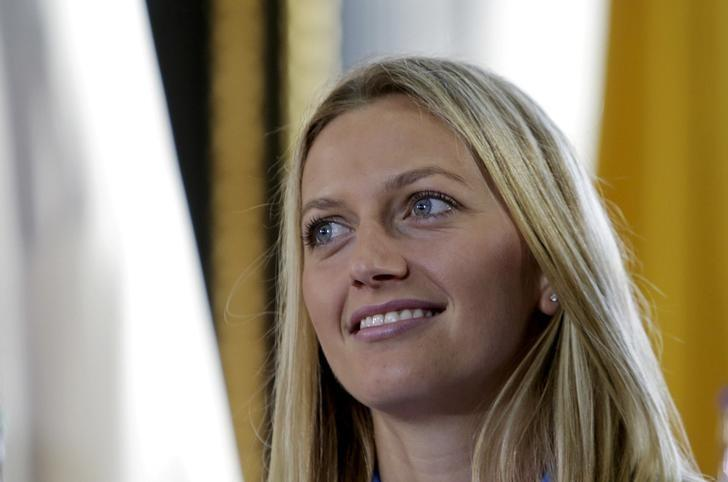 Czech Republic's Petra Kvitova smiles during the draw for the Fed Cup final in Prague November 13, 2015. REUTERS/David W Cerny/File Photo