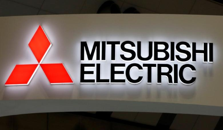 A logo of Mitsubishi Electric Corp is pictured at the 28th Japan International Machine Tool Fair in Tokyo, Japan, November 17, 2016. REUTERS/Toru Hanai/Files