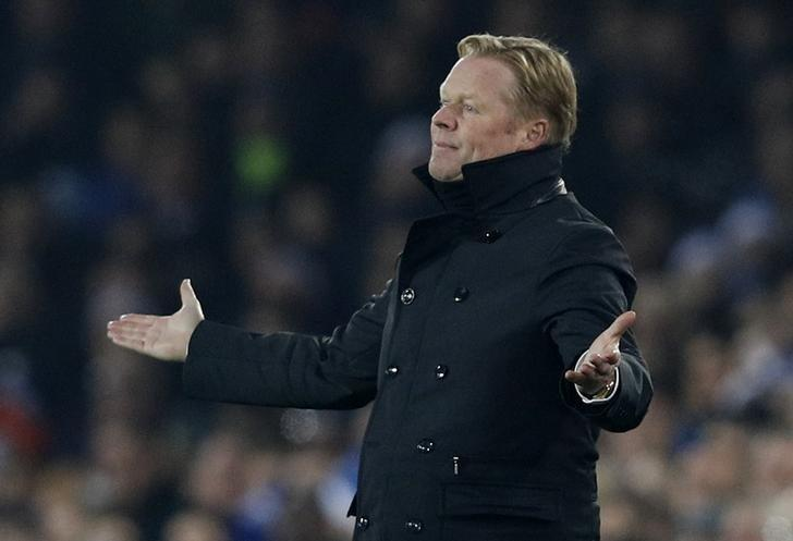 Britain Football Soccer - Everton v Liverpool - Premier League - Goodison Park - 19/12/16 Everton manager Ronald Koeman  Reuters / Phil Noble Livepic