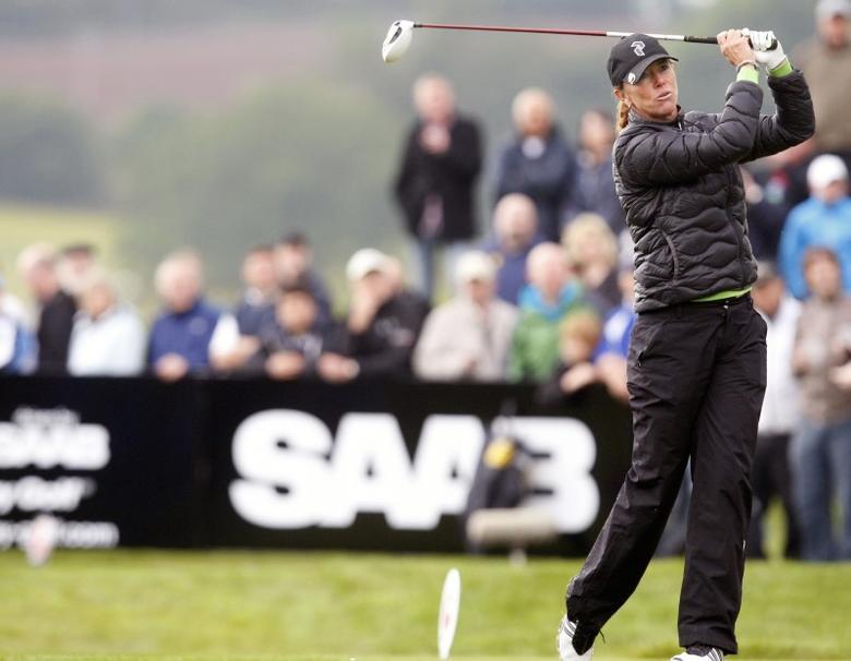 Sweden's Helen Alfredsson in action.  Celtic Manor Resort - 30/5/11. Action Images / James Benwell Livepic