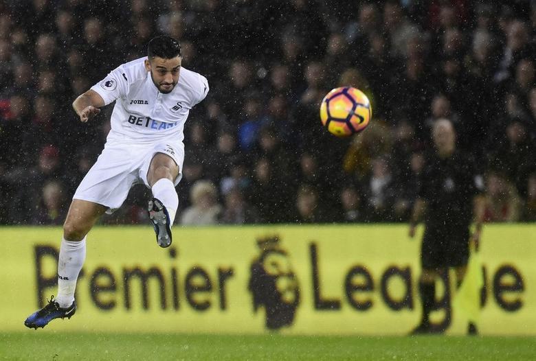 Swansea City's Neil Taylor in action. Swansea City v Sunderland - Premier League - Liberty Stadium - 10/12/16.  Reuters / Rebecca Naden Livepic