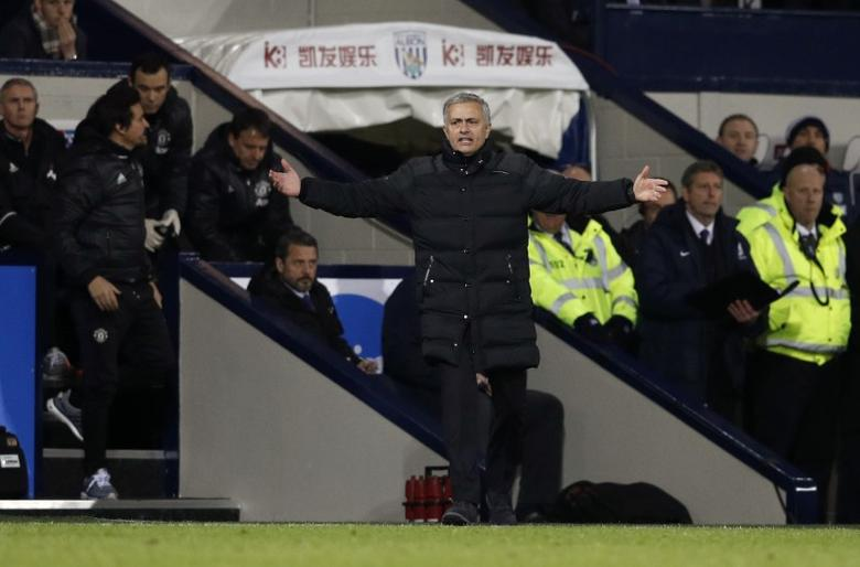 Britain Football Soccer - West Bromwich Albion v Manchester United - Premier League - The Hawthorns - 17/12/16 Manchester United manager Jose Mourinho  Reuters / Phil Noble Livepic