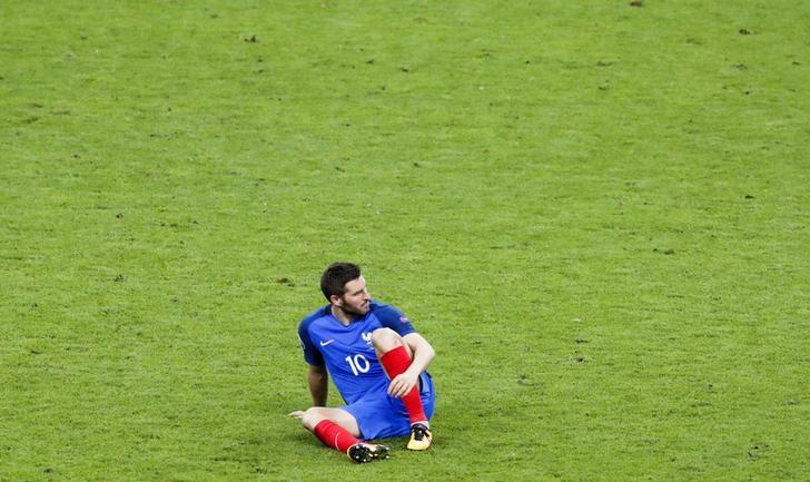 Football Soccer - Portugal v France - Euro 2016 - Final - Stade de France, Saint-Denis near Paris, France - 10/7/16 - France's Andre-Pierre Gignac reacts after the match. REUTERS/Christian Hartmann