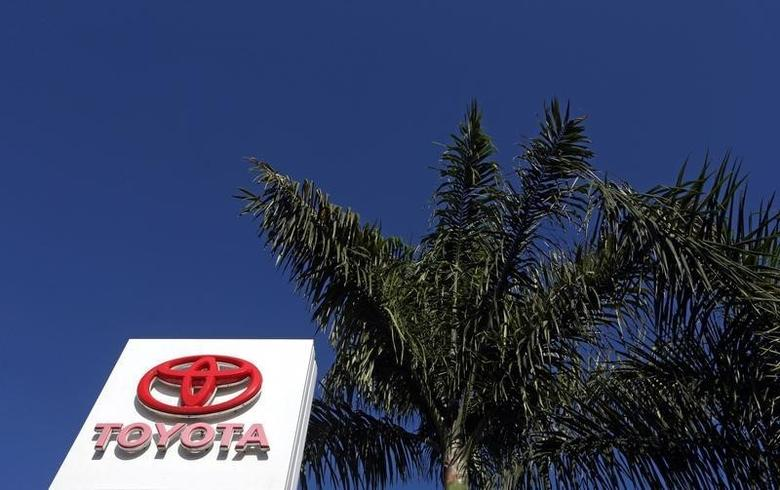 The Toyota logo is seen at the main entrance of their factory in Indaiatuba, Brazil, September 29, 2016. REUTERS/Paulo Whitaker