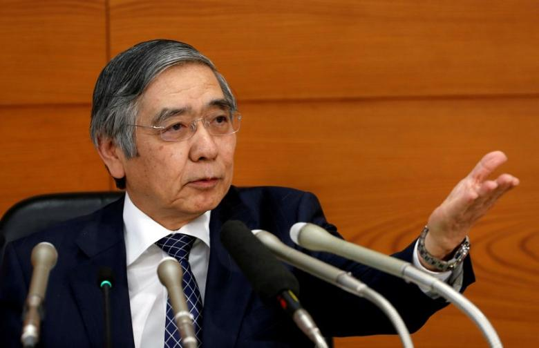 File Photo: Bank of Japan (BOJ) Governor Haruhiko Kuroda attends a news conference at the BOJ headquarters in Tokyo, Japan November 1, 2016. REUTERS/Kim Kyung-Hoon/File Photo