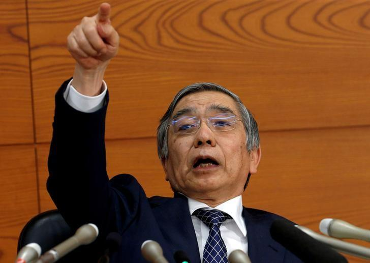 File Photo: Bank of Japan (BOJ) Governor Haruhiko Kuroda gestures during a news conference at the BOJ headquarters in Tokyo, Japan November 1, 2016. REUTERS/Kim Kyung-Hoon/File Photo
