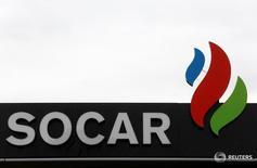 Логотип SOCAR в Берне. Госнефтекомпания Азербайджана (SOCAR) ранее в 2016 году начала импортировать газ из Ирана, сказал Рейтер первый вице-президент SOCAR Хошбахт Юсифзаде.   REUTERS/Ruben Sprich