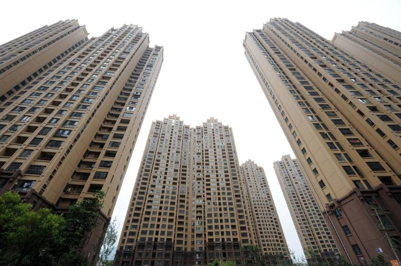 Residential buildings are seen in Huaibei, Anhui province, China, July 18, 2016. China Daily/via REUTERS