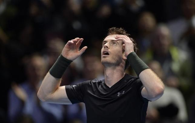 Tennis Britain - Barclays ATP World Tour Finals - O2 Arena, London - 20/11/16 Great Britain's Andy Murray celebrates winning the final against Serbia's Novak Djokovic Action Images via Reuters / Tony O'Brien Livepic/Files
