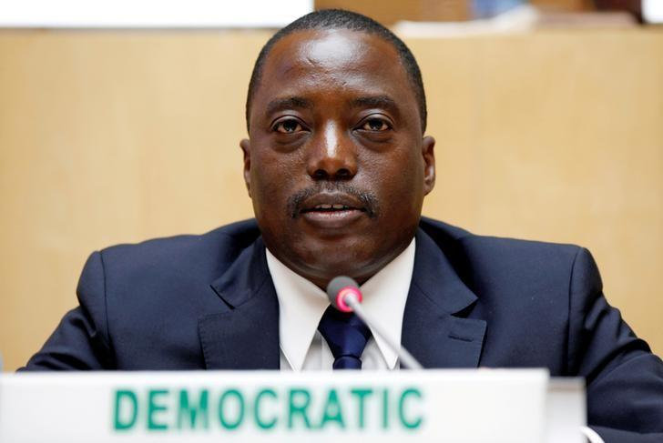 Democratic Republic of Congo's President Joseph Kabila attends the signing ceremony of the Peace, Security and Cooperation Framework for the Democratic Republic of Congo and the Great Lakes, at the African Union Headquarters in Addis Ababa, Ethiopia February 24, 2013. REUTERS/Tiksa Negeri/Files