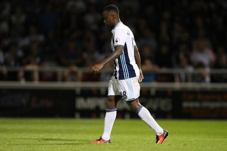 West Bromwich Albion's Saido Berahino looks dejected after missing a penalty in the shoot out Action Images via Reuters / John Clifton