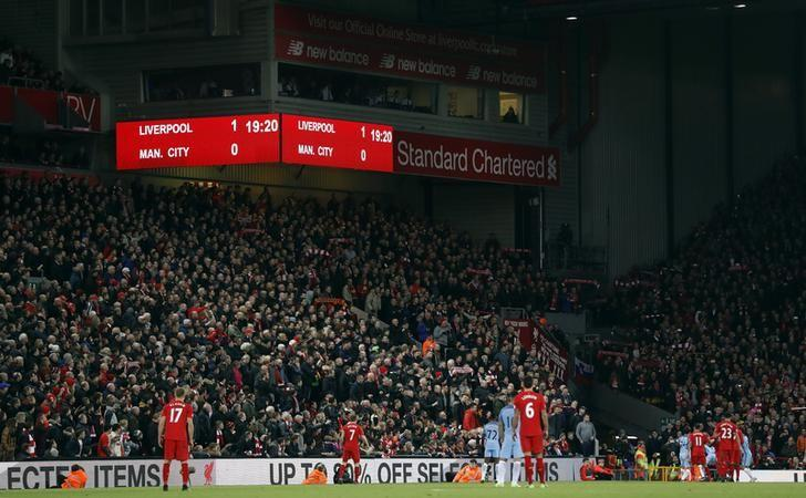 Britain Football Soccer - Liverpool v Manchester City - Premier League - Anfield - 31/12/16 General view during the game Action Images via Reuters / Carl Recine Livepic