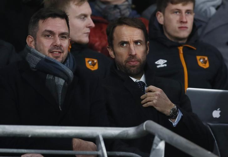 Britain Football Soccer - Hull City v Everton - Premier League - The Kingston Communications Stadium - 30/12/16 England manager Gareth Southgate in the stands Action Images via Reuters / Jason Cairnduff Livepic