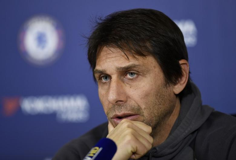 Chelsea manager Antonio Conte during the press conference Action Images via Reuters / Tony O'Brien