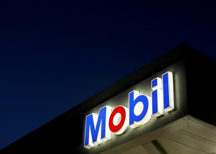 The logo of Exxon Mobil is seen in Encinitas, California April 4, 2016.  REUTERS/Mike Blake/File Photo