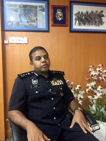 Ayob Khan Mydin Pitchay, the head of the Malaysian police special branch's counter-terrorism division, speaks during an interview in Kuala Lumpur January 1, 2017. Picture taken January 1, 2017. REUTERS/Ibrahim Harris