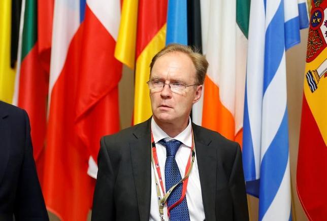1月4日、辞任を表明した英国のアイバン・ロジャーズ駐欧州連合(EU)大使(写真)は、メイ首相のEU離脱交渉上の方針はEU大使側には伝わっていなかったと表明した。ブリュッセルで昨年6月撮影(2017年 ロイター/Francois Lenoir)